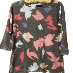 Nally & Millie 3/4 Sleeve Petite Large splatter